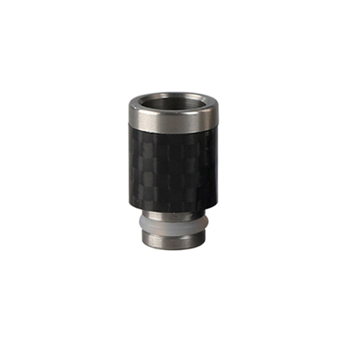 510 SS & Carbon Fibre Wide Bore Drip Tip